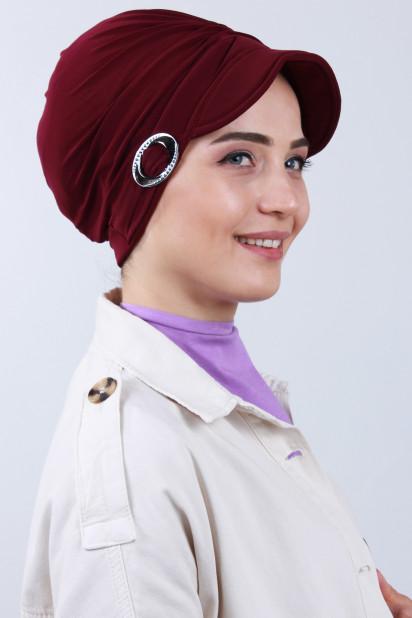 Tokalı Şapka Bone Bordo