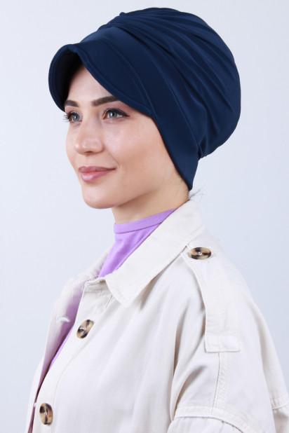 Tokalı Şapka Bone İndigo