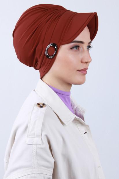 Tokalı Şapka Bone Kiremit