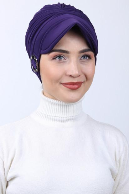 Tokalı Şapka Bone Mor