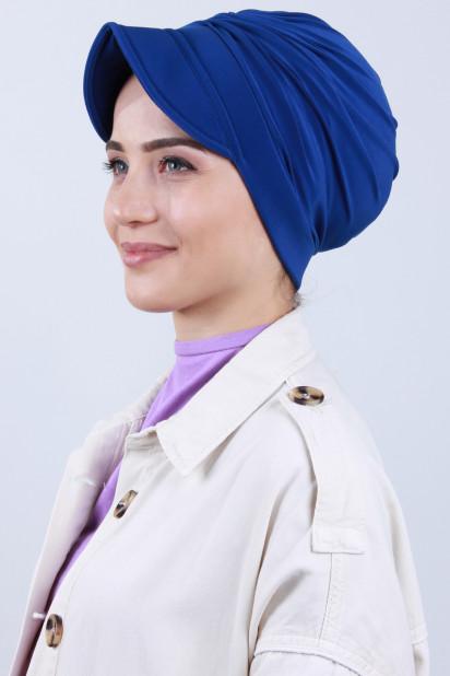 Tokalı Şapka Bone Saks Mavisi