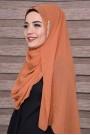 Zarif Taşlı Şal Orange